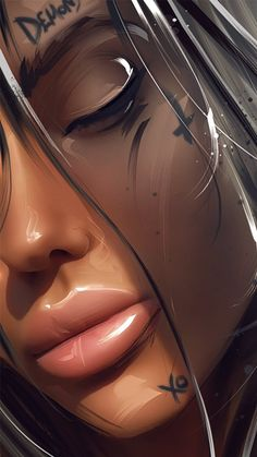 This step by step tutorial digital painting will be useful both for beginners and artists with experience. In the lesson, we will reveal the main points of creating a picture Digital Art Girl, Digital Portrait, Portrait Art, Arte Dope, Dope Art, Black Girl Art, Black Women Art, Pop Art Girl, Chica Fantasy