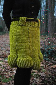 Knit Snapdragon Skirt