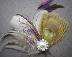 wedding hair accessories Peacock bridal feather by PeacockPixys, $39.00