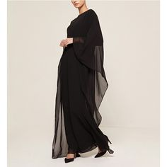 ||The Black Classic Fitted Kaftan|| Fluid style in an effortlessly light weight kaftan.