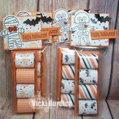 Today I am sharing a few little Halloween Treats These are a CASE of my sweet friend Wendy at WeeBeeStam. Fall Paper Crafts, Halloween Paper Crafts, Candy Crafts, Christmas Crafts, Handmade Christmas, Paper Crafting, Dulceros Halloween, Holidays Halloween, Halloween Treats