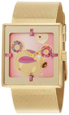 tokidoki Women's TDW303SGOLD Donutella Gold Stainless Steel Mesh Watch   $135