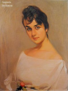 Woman with Rose - Nikolaos Lytras Classical Period, Classical Art, Greece Painting, Hellenistic Period, 10 Picture, Art Database, Fan Art, Landscape, Portrait