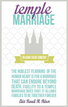 All Things Bright and Beautiful: Come Follow Me: The importance of temple marriage