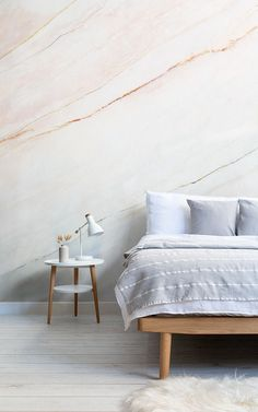 Checkout our amazing blush pink fade marble wallpaper mural. This pink & grey faded design is perfect for any bedroom or living room. Pink Marble Wallpaper, Neutral Wallpaper, Textured Wallpaper, Blush Rosa, Blush Pink, Hangout Room, Wonderwall, Minimalist Home, Modern Bedroom