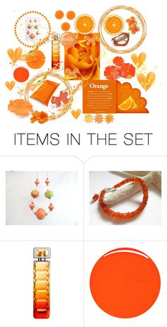 """""""Orange Collage"""" by keepsakedesignbycmm ❤ liked on Polyvore featuring art, contest, orange and accessories"""