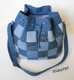 Patchwork Bag HandmadeBag shoulder bag denim bag Bags &