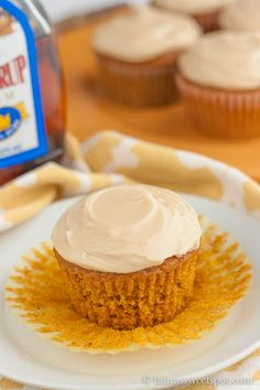 Ina Garten's recipe- Moist and fluffy Pumpkin Cupcakes with the most delicious Maple Cream Cheese Frosting!