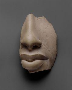 Nose and lips of Akhenaten - New Kingdom, Amarna Period, Dynasty 18, ca. 1353–1336 B.C. Indurated limestone