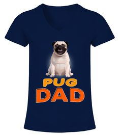 Pug Dog Dad  Funny Pug T-shirt, Best Pug T-shirt