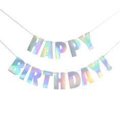 CC HOME Iridescent Party Supplies, Pink Gold Silver Shiny Happy Birthday Banner, Iridescent Silver Garland Bunting Sting Flag Decorations Set for Baby Shower,Birthday Party Decorations Supplies Happy Birthday For Him, Happy Birthday Bunting, 40th Birthday Parties, Happy Birthday Cards, Birthday Party Decorations, Birthday Ideas, Neon Birthday, Decoration Party, 17th Birthday