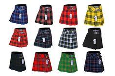 Ladies Women's Girls 12 Tartan Pleated Billie Kilt Skirt Leather Buckled Straps Kilt Belt, Kilt Skirt, Tartan Men, Tartan Kilt, Scottish Women, Scottish Kilts, Tartan Sash, Kilts For Sale