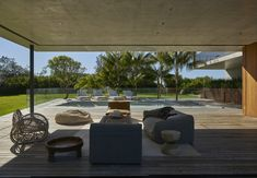 The Sunrise House by MCK Architects in New South Wales, Australia is a luxurious contemporary beachfront house. Outdoor Rooms, Outdoor Furniture Sets, Outdoor Decor, Australian Architecture, Interior Architecture, Sunrise Home, Gazebos, Beachfront House, Spa