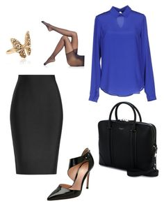 """Work interview"" by julietamaldon on Polyvore featuring moda, Givenchy, Falke, Gianvito Rossi, Tonello, Roland Mouret y Accessorize"