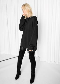 & Other Stories image 2 of Oversized Hoodie in Black