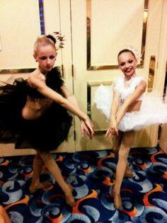 Chloe Lukasiak and Maddie Ziegler in The Black Swan dance