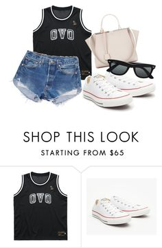 """Untitled #1783"" by fashionistaannie ❤ liked on Polyvore featuring Levi's, Converse, Fendi and Ray-Ban"