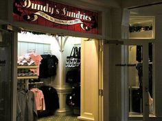 Located adjacent to Disney's Boardwalk Resort Main lobby area is Dundy's Sundries. This yester-year gift shop is a perfect stop to browse for a souvenir. Selling clothing, sundries and more this boardwalk shop will not let you down.