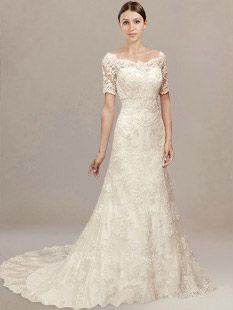 0ecd27b7de Off-the-Shoulder Vintage Lace Wedding Dress LC002 in 2018