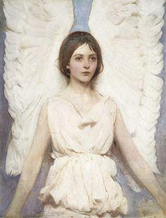 Pre-Raphaelite Angel Advent Calendar  Angel, 1889, Albert Thayer