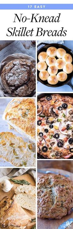 17 No-Knead Skillet Bread Recipes Anyone Can Make #skilletrecipes #breadrecipes #cooking #food