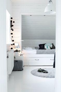 black and white kids Bedroom Ideas #Sleepys