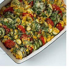 Daily Wellness Tip - Simply delicious! Our no-fuss Summer Vegetable Casserole is a rainbow of flavor.