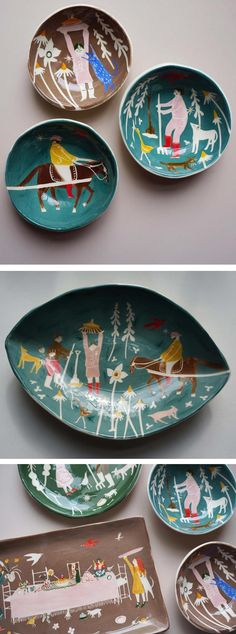 Illustrator, ceramicist, and canary keeper Polly Fern.