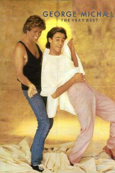 George and Andrew, this is one of my favourite Wham photo's George Michael Poster, George Michael Music, Michael Love, Your Music, Music Is Life, 20th Century Music, Andrew Ridgeley, Cinema, Beautiful Voice