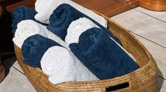 Superyacht deck towels can be the hardest to take care of, due to the UV rays and salt water | Deck towels ©Cabin Shop