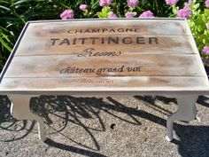 champagne crate inspired table