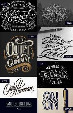 Hand Lettered Love as seen on papercrave.com