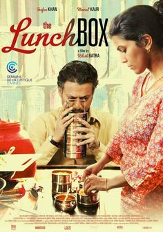 The Lunchbox ( 2013 ), India. The film set in Mumbai, revolves around a mistaken delivery in dabbawala (lunchbox service) of Mumbai, which leads to a relationship between an about to retire, Saajan, also a lonely widower and an unhappy housewife, Ila who is looking for happiness.