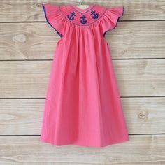 Pink and Navy with Anchors