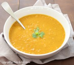 Exclusively Food: Curried Pumpkin and Lentil Soup Recipe