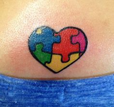 Autism tattoo. Might get this or something like it for my older sister.