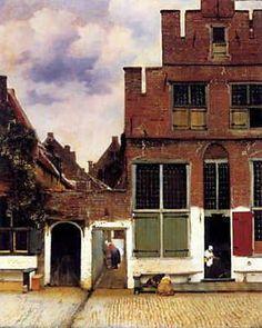 ■ デルフトの小道(小路) (Het Straatjd) 1558-1559年頃 53.5×43.5cm | 油彩・画布 | アムステルダム国立美術館  http://www1.icnet.ne.jp/take/7.html