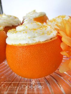 Or cake in an orange might be more appropriate.  Have you ever seen this fun idea before?  I hadn't until my sister in law came to visit and told me about a fun date she had been on where they had ...