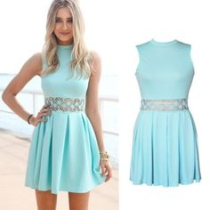 Damen-Kleid Türkis