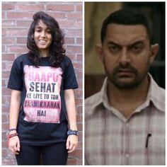 Ira supports dad Aamir Khan, sports a Haanikaarak Bapu t-shirt with friends!
