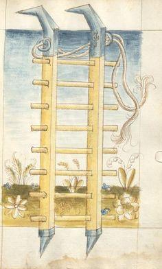 Bellifortis VerfasserKyeser, Conradus  ErschienenElsaß, [um 1460] Ms. germ. qu. 15  Folio 83r