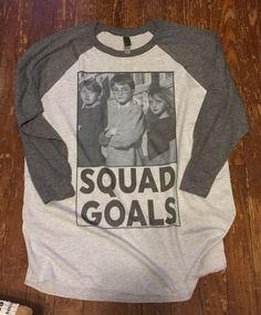 Harry Potter Ringer Tshirt - SQUAD GOALS - Unisex Baseball Tee