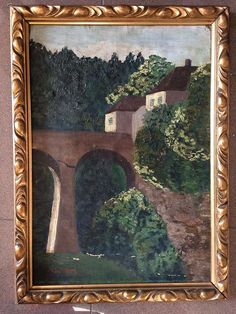 Jugendstil Gemälde Öl/ Leinwand G. JAHN um 1900 Gems, Painting, Art Nouveau, Canvas, Pictures, Rhinestones, Painting Art, Gemstones, Paintings