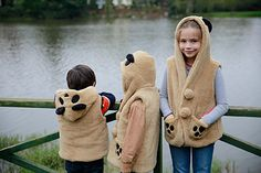 Ayı tasarımlı pelüş yelek / Bear design vest