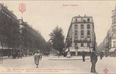 Paris. Boulevard Voltaire. Angles, Commerce, Taj Mahal, Building, Places, Painting, Travel, Antique Post Cards, Antique Pictures