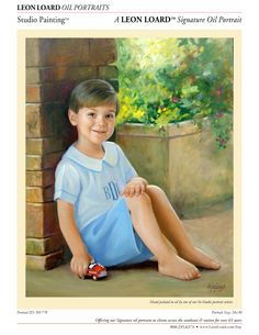 Heirloom oil painting by LEON LOARD™ Oil Portraits Staff Artist, Child, Studio Painting, Boy, 501778