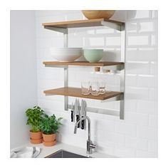 IKEA KUNGSFORS Suspension rail with shelf wll grid Gives you