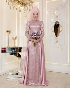 Image may contain: 2 people, people standing Muslim Prom Dress, Muslimah Wedding Dress, Muslim Wedding Dresses, Hijabi Gowns, Pakistani Dresses, Bridal Hijab, Bridal Gowns, Evening Dresses, Prom Dresses