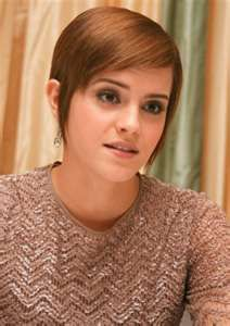 Emma Watson, short hair