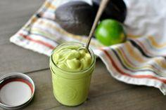 creamiges avocado dressing für salate